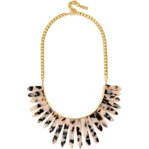 BaubleBar Ra Bib Blonde Tortoise Necklace